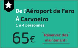 Aéroport de Faro à Carvoeiro
