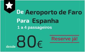 Aeroporto de Faro para Espanha