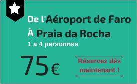 Aéroport de Faro à Praia da Rocha