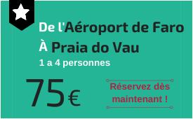 Aéroport de Faro à Praia do Vau