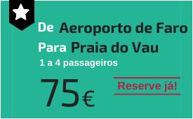 Aeroporto de Faro para Praia do Vau