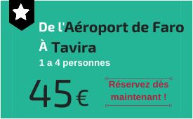 Aéroport de Faro à Tavira